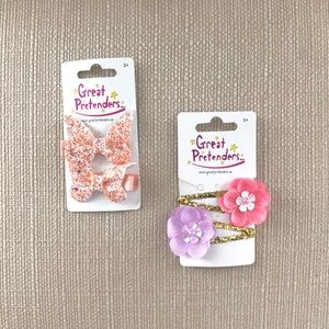 Lot of 2 Sets of NWT Hair Clips